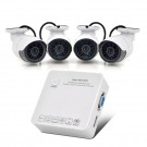 4 Channel HD NVR System - 4x 720p IP Cameras, Cloud P2P, E-SATA Port, ONVIF Support